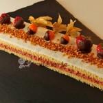 Erdbeer-Buttermilch-Schnitte mit Schokofrüchten