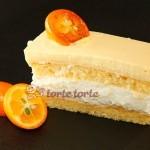 Topfenschnitte mit Orangenschaum